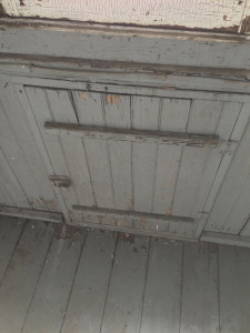 Kitchen porch trap door